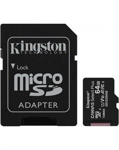 Карта памяти MicroSDHC 64GB UHS I U1 Canvas Select Plus Kingston