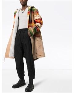 Пальто 50 50 Navajo с капюшоном и узором Greg lauren