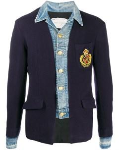 Пиджак со вставками из денима Greg lauren
