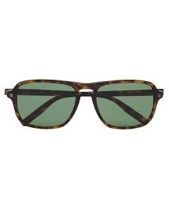 Солнцезащитные очки черепаховой расцветки Ermenegildo zegna