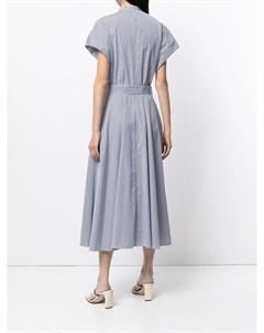 Платье миди в полоску с запахом Martin grant