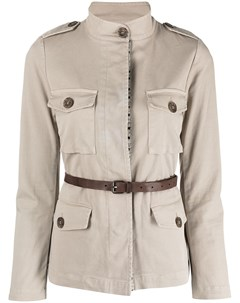 Куртка с поясом в стиле сафари Bazar deluxe