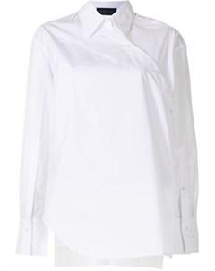 Рубашка асимметричного кроя с запахом Eudon choi