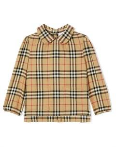 Поплиновая рубашка в клетку House Check Burberry kids