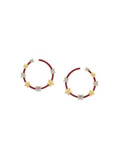 Серьги кольца со звездами Eshvi