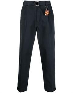 Зауженные брюки с круглой пряжкой Doublet