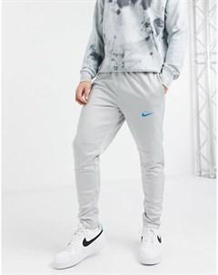 Серые трикотажные джоггеры с вышитым логотипом галочкой Nike Air Nike sb