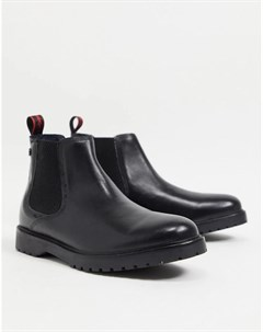 Черные кожаные ботинки челси Anvil Base london