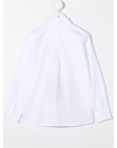 Рубашка с вышитым логотипом Dolce & gabbana kids