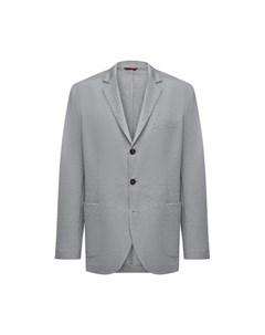 Пиджак из шелка и хлопка Brunello cucinelli