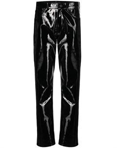 Лакированные брюки свободного кроя David koma