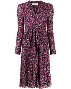 Расклешенное платье с цветочным принтом Dvf diane von furstenberg