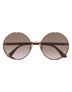 Солнцезащитные очки Lilos в круглой оправе Jimmy choo eyewear