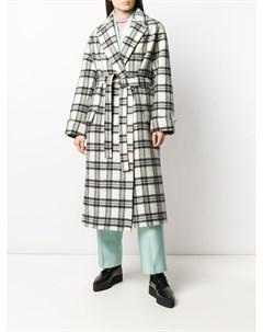 Пальто с запахом и поясом Christian wijnants
