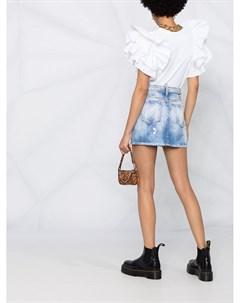 Джинсовая юбка с кристаллами Dsquared2
