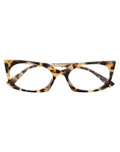 Очки в оправе кошачий глаз черепаховой расцветки Moschino eyewear