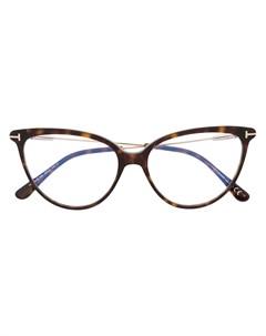 Очки в оправе кошачий глаз черепаховой расцветки Tom ford eyewear
