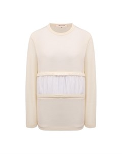 Шерстяной пуловер Comme des garcons