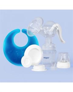 Набор молокоотсос ручной и термонакладка для груди Zabota2