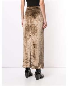 Бархатная юбка макси Sulvam