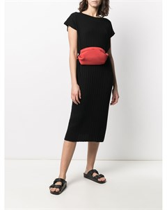 Платье с короткими рукавами и плиссировкой Sminfinity