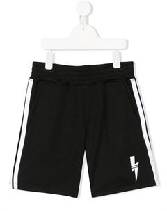 Спортивные шорты с логотипом Neil barrett kids