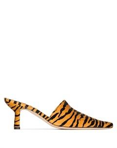 Мюли Cynthia 65 с тигровым принтом By far