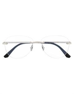 Очки в безободковой оправе Cartier eyewear
