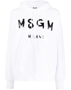 Худи с длинными рукавами и логотипом Msgm