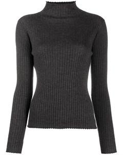 Кашемировый свитер в рубчик N.peal