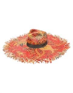 Шляпа из рафии с принтом Etro