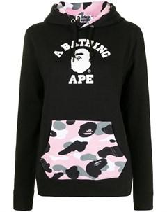 Худи с логотипом и накладным карманом A bathing ape®