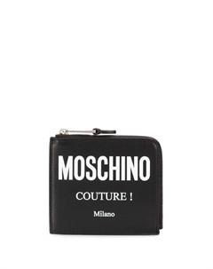 Кошелек на молнии с логотипом Couture Moschino