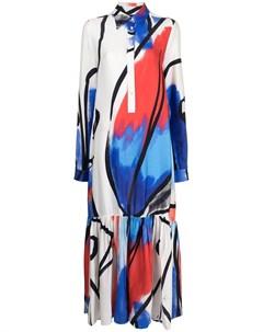 Платье макси с абстрактным принтом Stella jean