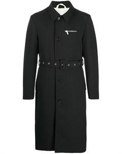 Пальто длины миди с поясом Raf simons