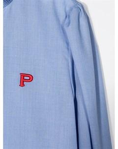 Рубашка с оборками и вышитым логотипом Philosophy di lorenzo serafini kids