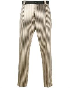 Укороченные брюки в полоску Dolce&gabbana