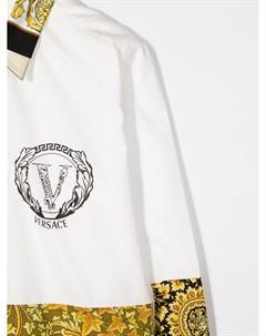 Рубашка на пуговицах с принтом Baroque Young versace