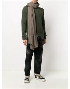 Объемный шарф с бахромой Rick owens
