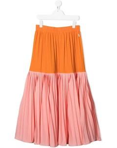 Плиссированная юбка в стиле колор блок Molo kids