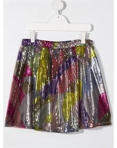 Расклешенная юбка с пайетками Emilio pucci junior