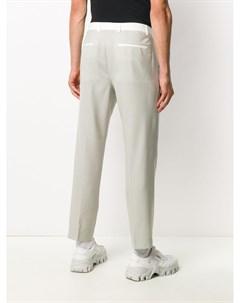 Прямые брюки с контрастными вставками Maison flaneur