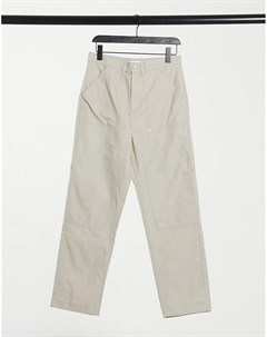 Бежевые брюки чиносы Darien Weekday