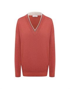 Пуловер из хлопка и вискозы Brunello cucinelli