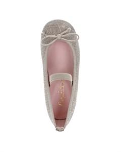 Текстильные туфли с золотистым люрексом детские Pretty ballerinas