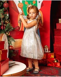 Туфли с серебристым глиттером детские Pretty ballerinas