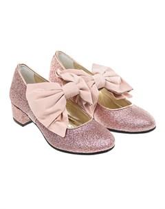 Розовые туфли с глиттером детские Monnalisa