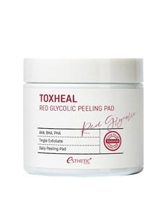 Очищающие диски Toxheal Red Glycolic Peeling Pad Esthetic house