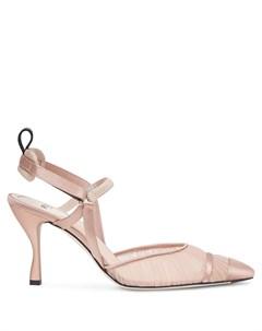 Туфли Colibri с прозрачными вставками Fendi