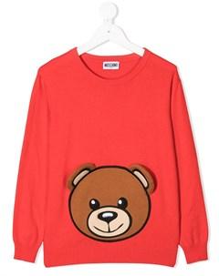 Джемпер Teddy Bear вязки интарсия Moschino kids